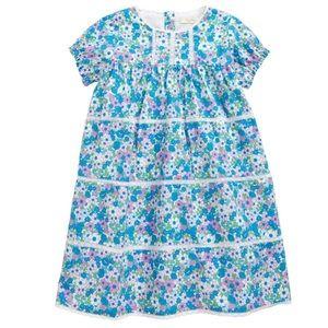 NWT Mini Boden Baby Lace Trim Floral Dress 0-3M